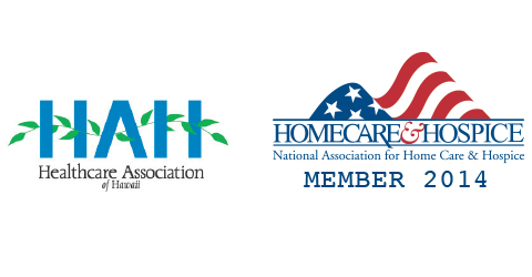 Healthcare Association of Hawaii and National Organization for Homecare and Hospice logos